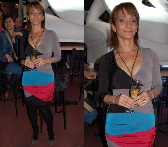 Keresztes Ildikó a DTK Show zárópartiján nem csak rövid frizurájával, de nőies idomait nem takargató ruhájával is a fotósok kedvence volt.