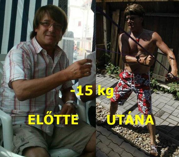 Delhusa Gjon a kitartó edzéseknek köszönhetően izmossá faragta testét és 15 kilót adott le.
