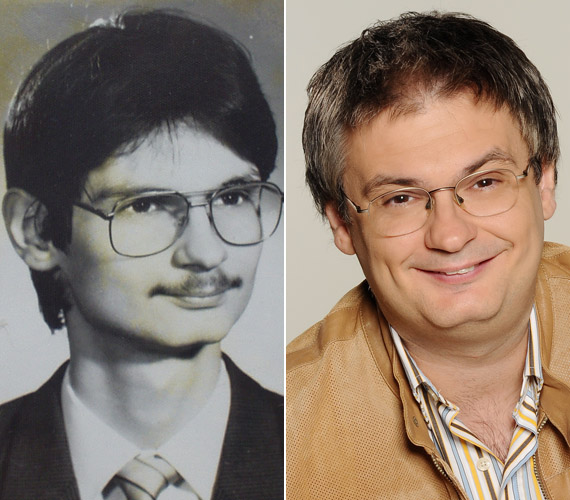 Jáksó László a bal oldali felvételt régebben a Feminának azzal kommentálta: ha megnézi valaki a tablóképet, érteni fogja, miért volt 21 éves koráig szűz.