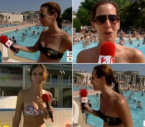 Tavaly nyáron arra is volt példa, hogy bikiniben vezette a műsort.