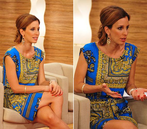 A Mokka július 5-ei adásában a vidám, kék-sárga mintás nyári ruha is remekül állt neki.
