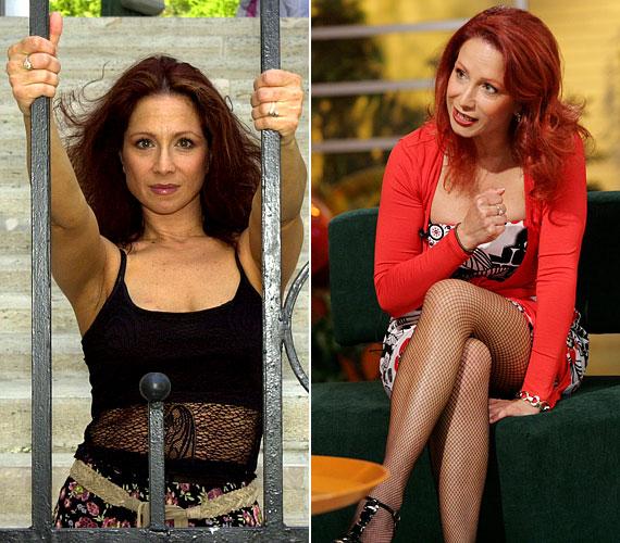 A kemény munka nem marad eredmény nélkül: az évek során mit sem veszített nőiességéből. A fekete topos fotó 2001-ben készült, míg a piros kardigános 2008-ból való.
