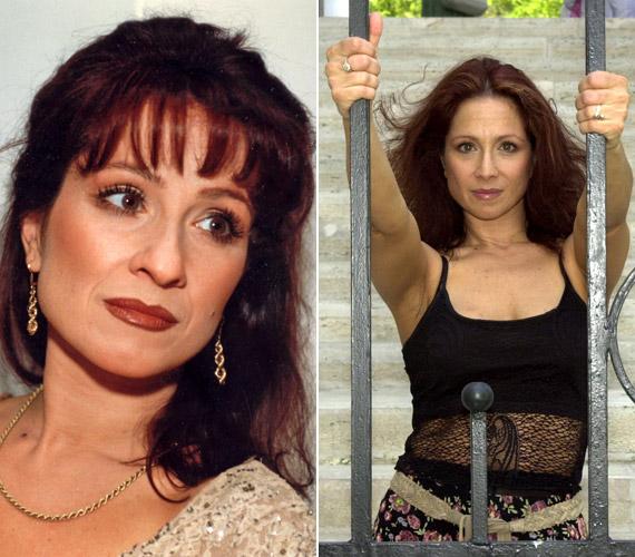 Az évtizedek alatt csak a vörös hajszín árnyalatai változtak, a színésznő arca nem.