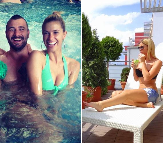 Dukai Regina a május elsejei hosszú hétvégén bátyjával, jelenleg pedig focista párjával, Feczesin Róberttel lazít.