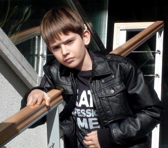 Détár Enikő és Rékasi Károly kisfia, Zsigmond már tízéves.