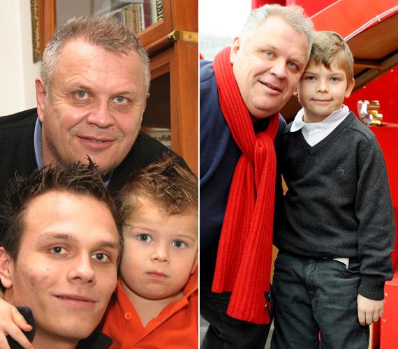 A Dévényi család férfi tagjai: Tibor, Dániel és Máté. A jobb oldali fotó 2008 decemberében készült a Mikulásgyárban. Máté ma már 14 éves kamasz.