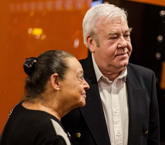 Gálvölgyi János és felesége, Judit, aki már több mint 40 éve a színész hű társa.