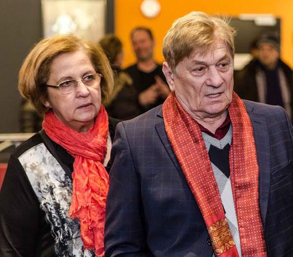Harsányi Gábor színművész és felesége, Ildikó.