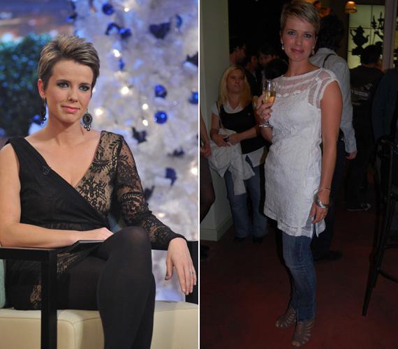 D. Tóth Kriszta, az m1 egyik meghatározó arca a DTK Show-ban viselte az aszimmetrikus, fekete ruhát, míg a hófehérben a talk show-ja zárópartiján volt látható.