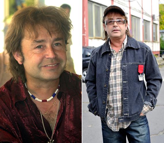 Egy 2002-es és egy 2010-es fotó. Utóbbi a Megasztár előtt készült; a tehetségkutatóban az énekes is fellépett az R-Go gidáival.