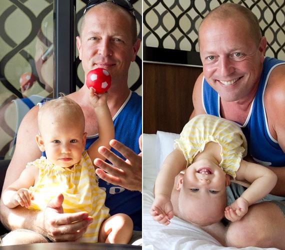 Dózsa Zoltán, a Jóban Rosszban sztárja imádja egyéves kislányát, Emíliát.