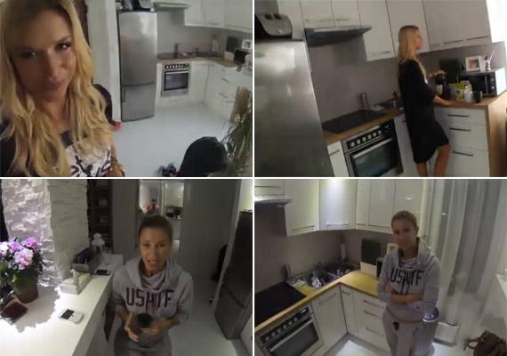 Dukai Regina lakásában a fehér és a pasztellszínek uralkodnak. A modell a konyhában is otthon érzi magát - nemcsak tud, szeret is főzni.