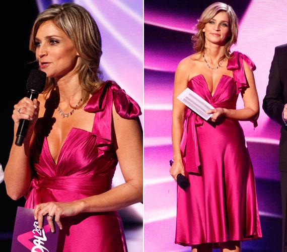 Az Eurovíziós Dalfesztivál hazai válogató műsorának, A Dalnak a női műsorvezetőjeként még az amúgy szolidan öltözködő Novodomszky Éva merész dekoltázzsal lepte meg egyszer a köztévé nézőit.