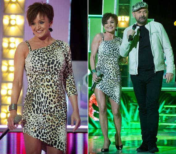 Az est vendég fellépői Szandi és Zsidró Tamás voltak, akik A Nagy Duett előző szériájában alkottak egy párost. Az énekesnő leopárdmintás ruhában lépett színpadra.