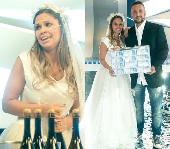 Az utolsó feladatban a két gyűrűt és a beléjük való köveket pezsgősüvegekben kellett megkeresniük - mindezt esküvői ruhában. Majka és Dundika nemcsak ebben voltak a legjobbak, de a vetélkedőt is megnyerték. 3 millió forint volt a jutalmuk.