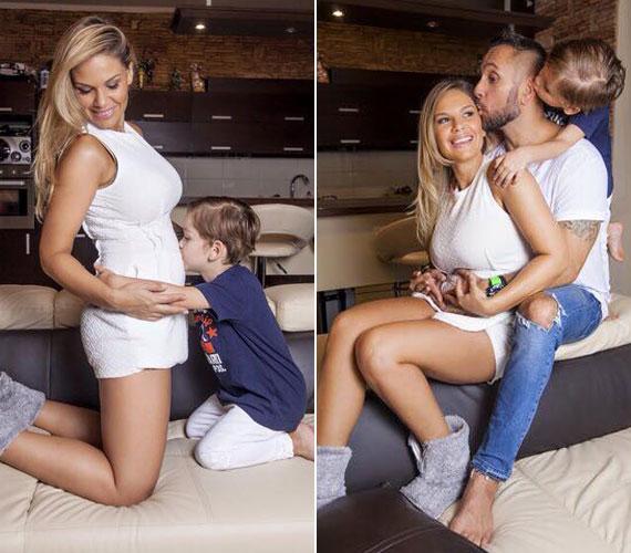 Majka és Dundika kisfia, Marián 2011 novemberében jött világra. A kisfiú a fotó tanúsága lapján már nagyon várja a kistestvért.