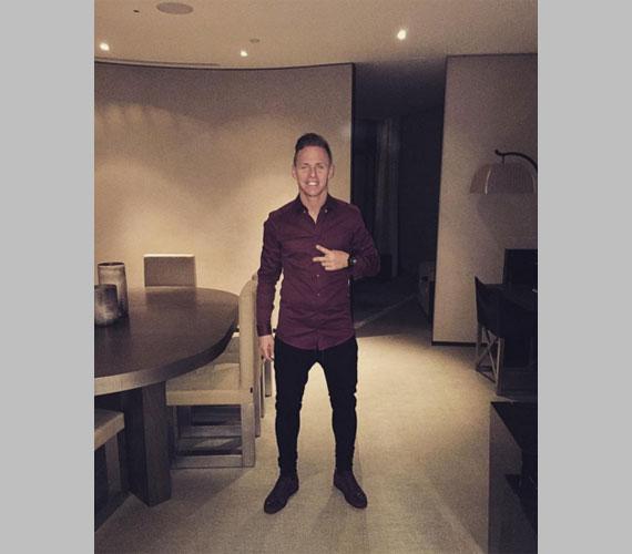 A Bursaspor 29 éves focistája 2016. január 1-jén ebből a helyiségből kívánt mindenkinek boldog újévet.