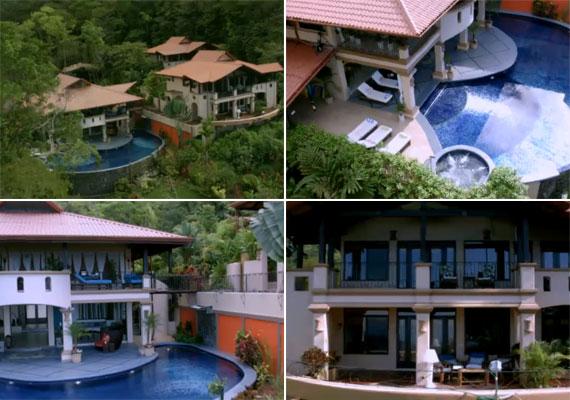 A dzsungelben felépített három épület minden luxussal felszerel, a fő épület előtt pazar medence kapott helyet.