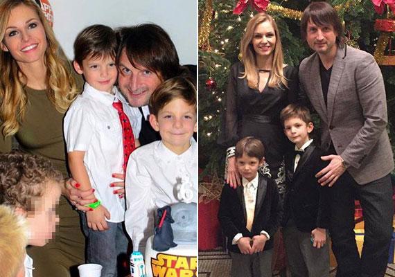 Két gyönyörű fia van a sztárpárnak. Maxim 2009-ben, Noel 2011-ben született. Adrienn nemcsak a szerencsés géneknek köszönheti csodás alakját, tudatosan táplálkozik, és jó minőségű alapanyagokból főz.