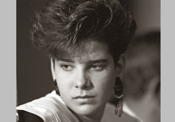 """1992-ben, a barcelonai olimpia évében, 18 évesen - már az """"egerszegis"""" frizurával."""