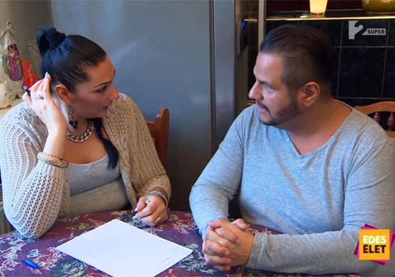 Tina és Emilio a SuperTV2 Édes Élet című műsorában. Az énekes elmondta: meg kellett tanulnia, hogy lassan, komótosan egyen, és mindent csak kis mennyiségben.