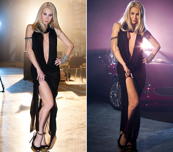 Erdőhegyi Brigitta a Livin' in a Free World című számhoz készült videóban is egy köldökig kivágott, merészen felsliccelt ruhát viselt. A dögös külső nem véletlen: a klipben egy vadítóan szexis dívát alakít, akinek a kegyeiért egy fiatal autóversenyző küzd.
