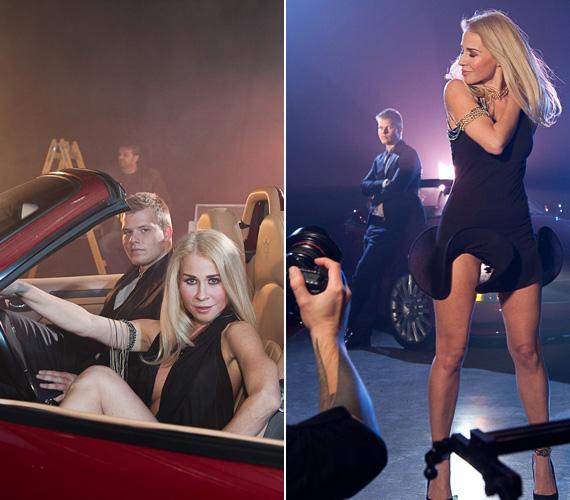 A dögös ruhák mellett szerepel a klipben egy tűzpiros luxusautó is, amelyből csak pár darab van a világon, a férfi főszereplő pedig Nagy Norbi, kétszeres magyar bajnok autóversenyző.