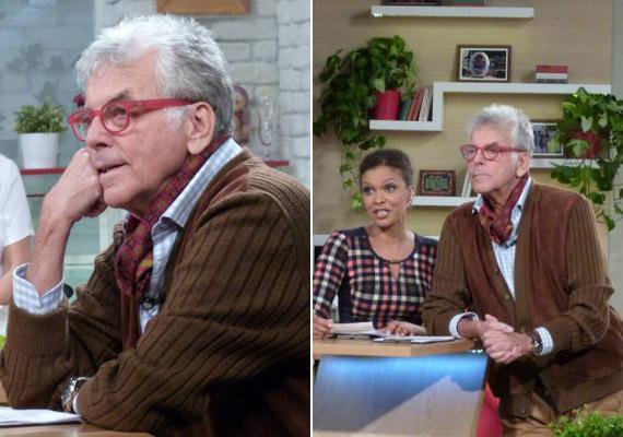 Október végén az M1 Család-barát című műsorának társműsorvezetője volt - akkor kissé öreguras volt a barna kardigánban.
