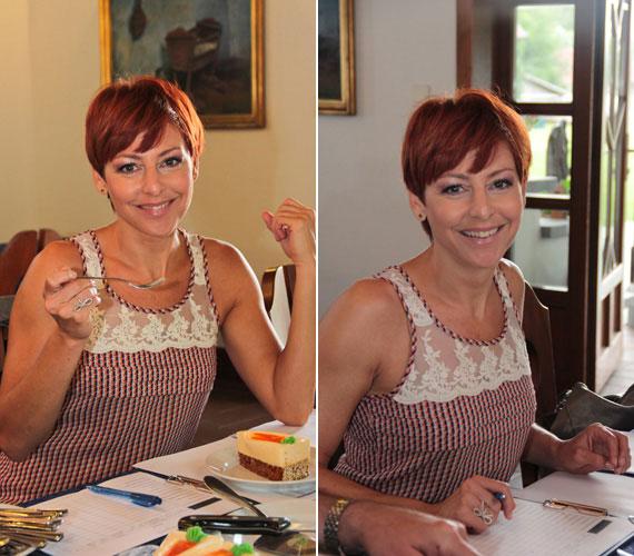 Pár hete egy egyszerűen elegáns ruhában választotta ki egy hattagú zsűri tagjaként Magyarország cukormentes tortáját.