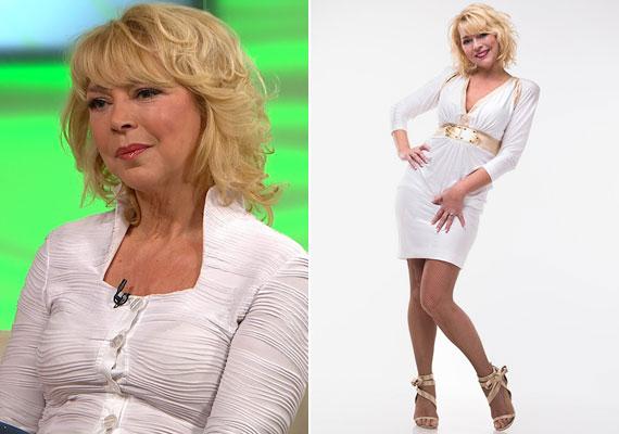 Egy másik szőke színésznő, az 56 éves Nyertes Zsuzsa fiatalon a szőke cicababa szerepében a szeszélyes Évszakokban vált ismertté - ma is bombázó.