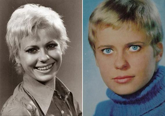 Igazolványképek a művésznő fiatal korából. Az első képet a húszas évei végén, a másodikat 1964 környékén készíthette róla egy fotós. Akkor még mindössze 20 éves naiva volt.