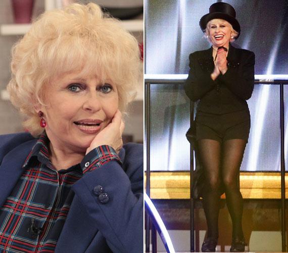 A 72 éves Esztergályos Cecília vitalitása és alakja is akár egy 30 éves nőé. A színésznő gyönyörű lábait a Szombat Esti Láz zsűritagjaként is megmutatta.