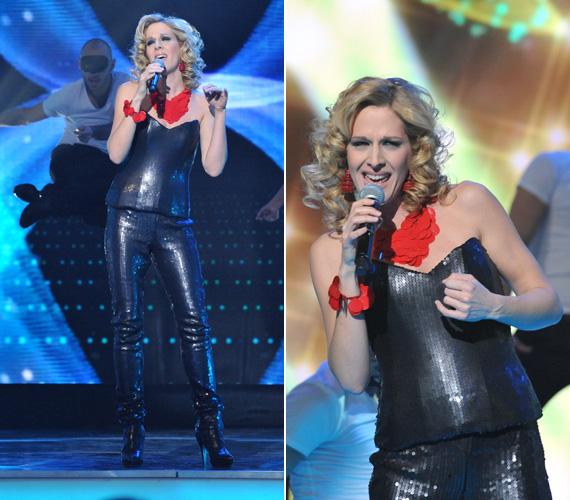 Merészségért Wolf Katinak, a tavalyi magyar eurovíziós fellépőnek sem kellett a szomszédba mennie. A zsűri tagjaként egy flitterekkel díszített bőrruhában állt színpadra.