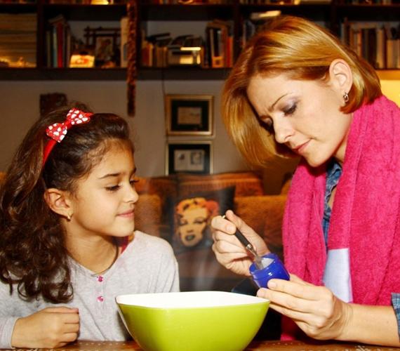 A színésznő már most igyekszik egészségtudatos életre nevelni a hétéves kislányát.