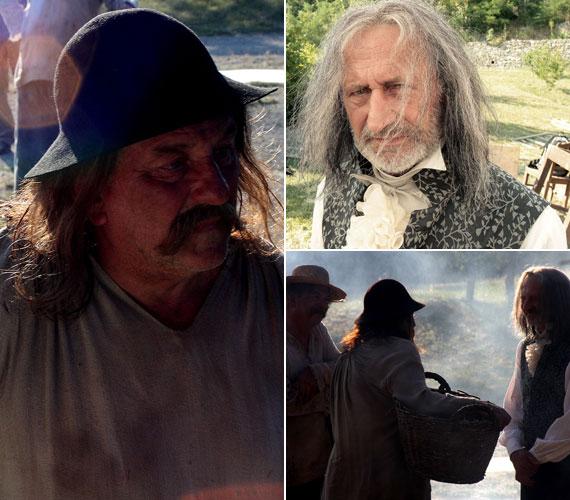 Reviczky Gáborral is lesz egy jelenete - a 64 éves Kossuth-díjas és Jászai Mari-díjas színészre szintén nehéz lesz ráismerni hosszú, ősz hajjal.
