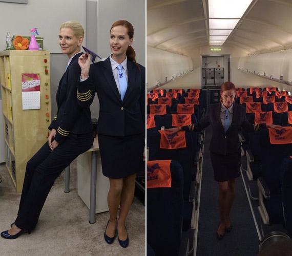 Az első napvilágot látott hírekkel ellentétben Dobó Kata nem stewardesst, hanem pilótát alakít, Rezes Judit pedig első tiszt lesz.