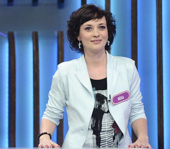 Farkasházi Réka az RTL Klub Négyen négy ellen című vetélkedőjében.