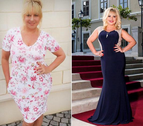 A bal oldali fotó 2014 nyarán, a jobb oldali pedig pár hete készült. Zoltán Erika tavaly óta 10 kilótól szabadult meg, mára pedig fantasztikusan néz ki.