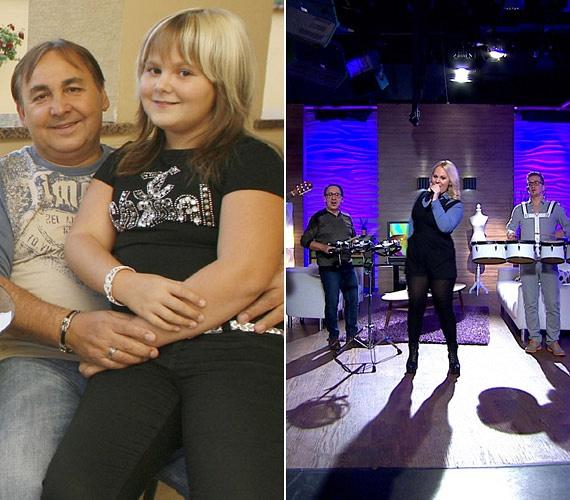Az egykor duci kislányból kész nő lett, aki nagyon dögös ruhában mutatta meg énekhangját a FEM3 Café mai adásában.