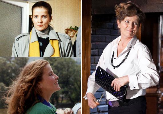 Az 57 éves Fehér Anna a sorozat Almája a József Attila Színházban áprilisban kezdte el próbálni a Helyet az ifjúságnak című zenés darabot. A jobb oldali képen Arthur Miller Alku című drámájában.