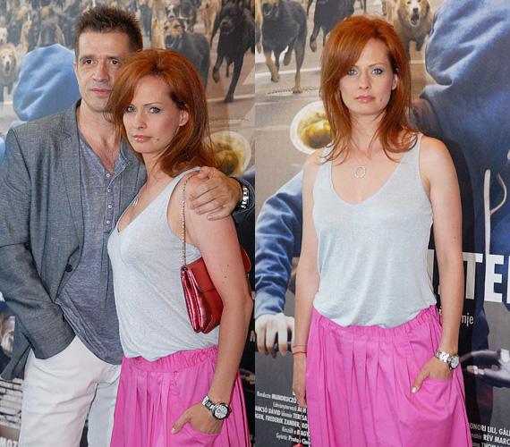 Dobó Kata a párjával, Gulyás Leventével tekintette meg a filmet. A színésznő vörös hajához fehér felsőt választott, amit pink nadrággal egészített ki.
