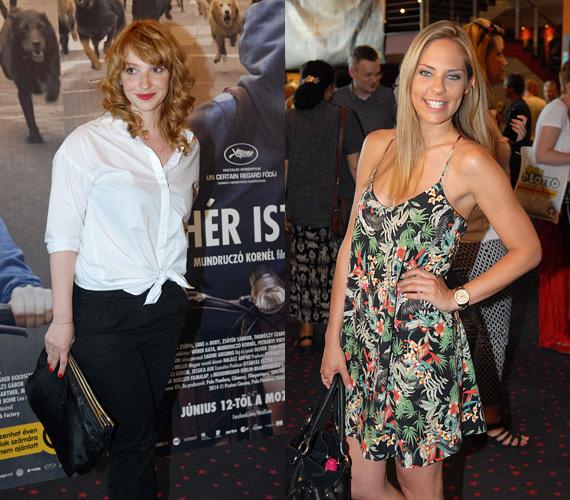 A hazai bombázók közül egyebek közt Kerekes Vica színésznő és Ada, az RTL Klub műsorvezetője képviselték magukat. Vica a klasszikus fekete-fehér összeállításra szavazott, míg Ada egy könnyű nyári ruhácska mellett döntött.