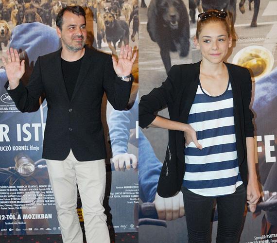 Természetesen Mundruczó Kornél is tiszteletét tette a bemutatón, de ott volt a film fiatal főszereplője, Psotta Zsófi is.