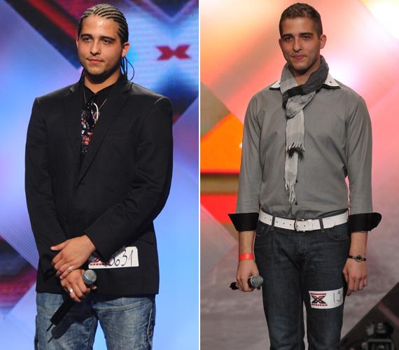 Tavaly ősszel egy fonott hajú, kövérkés srác állt a színpadon, míg a legutóbbi fellépésén 27 kilóval könnyebben, új frizurával, vagányan elegáns öltözetben láthattuk.