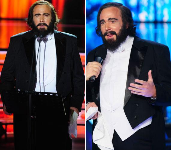 Pavarottiként a Nessun dorma című dallal 38 pontot gyűjtött össze. Külsőre remekül hozta az olasz operaénekes fiatal verzióját.