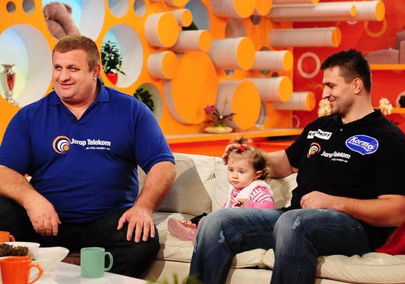 Az 56 éves Fekete Laci már többszörös nagyapa. A fotó 2011 februárjában készült az RTL Klub reggeli műsorában.