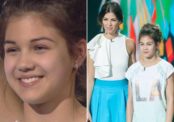 Fésűs Nelly 13 éves lánya, Csenge sok dicséretet kapott a Kismenők zsűritagjaitól, a nézők szavazataival összefésült pontszám alapján viszont kiesett a szombati műsorból.