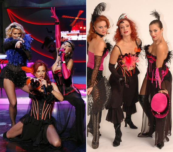 A Dívák nevű formáció tagjaként Détár Enikő és Ladinek Judit mellett szintén nem takargatja nőies idomait.