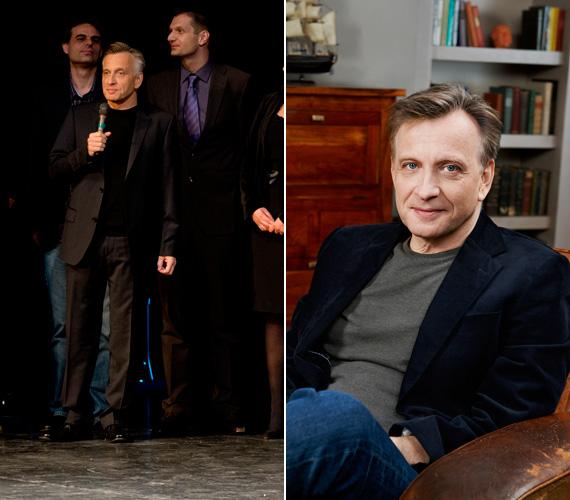Mácsai Pál, az HBO új magyar sorozatának főszereplője maradt a klasszikus fekete öltönynél.