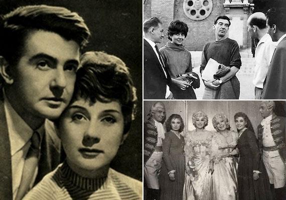 A színház és a filmezés hozta össze Ruttkai Évát és Gábor Miklóst, akik olyan legendás színészek oldalán játszhattak, mint Bajor Gizi, Ferrari Violetta vagy Básti Lajos - jobb alsó fotó. Szerelmük 15 évig tartott, amíg a színésznő 33 éves korában bele nem szeretett legendás partnerébe, a 29 éves Latinovits Zoltánba. 1964-ben bejelentette férjének, hogy szerelmes, és elköltözik tőle.